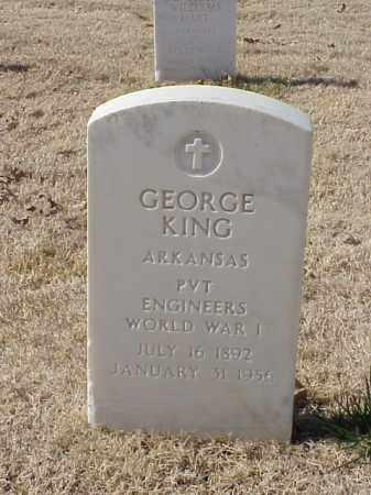 KING (VETERAN WWI), GEORGE - Pulaski County, Arkansas | GEORGE KING (VETERAN WWI) - Arkansas Gravestone Photos
