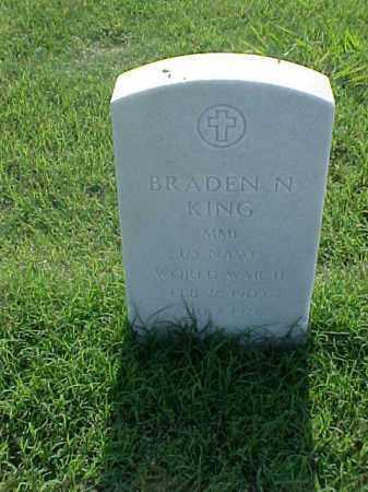 KING (VETERAN WWII), BRADEN N - Pulaski County, Arkansas | BRADEN N KING (VETERAN WWII) - Arkansas Gravestone Photos