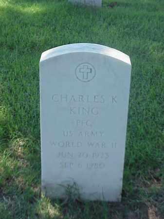KING (VETERAN WWII), CHARLES K - Pulaski County, Arkansas | CHARLES K KING (VETERAN WWII) - Arkansas Gravestone Photos