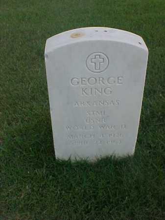 KING (VETERAN WWII), GEORGE - Pulaski County, Arkansas | GEORGE KING (VETERAN WWII) - Arkansas Gravestone Photos