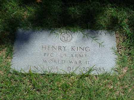 KING (VETERAN WWII), HENRY - Pulaski County, Arkansas | HENRY KING (VETERAN WWII) - Arkansas Gravestone Photos