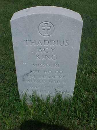 KING (VETERAN WWII), THADDIUS ACY - Pulaski County, Arkansas   THADDIUS ACY KING (VETERAN WWII) - Arkansas Gravestone Photos