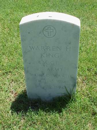 KING (VETERAN WWII), WARREN H - Pulaski County, Arkansas   WARREN H KING (VETERAN WWII) - Arkansas Gravestone Photos