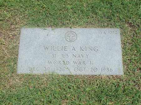 KING (VETERAN WWII), WILLIE A - Pulaski County, Arkansas   WILLIE A KING (VETERAN WWII) - Arkansas Gravestone Photos