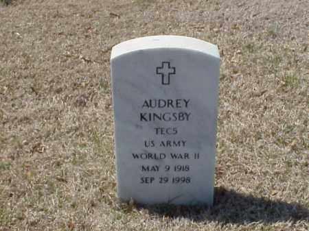 KINGSBY (VETERAN WWII), AUDREY - Pulaski County, Arkansas   AUDREY KINGSBY (VETERAN WWII) - Arkansas Gravestone Photos