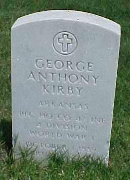 KIRBY (VETERAN WWI), GEORGE ANTHONY - Pulaski County, Arkansas | GEORGE ANTHONY KIRBY (VETERAN WWI) - Arkansas Gravestone Photos