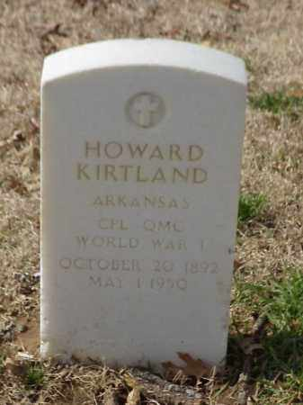 KIRTLAND (VETERAN WWI), HOWARD - Pulaski County, Arkansas   HOWARD KIRTLAND (VETERAN WWI) - Arkansas Gravestone Photos