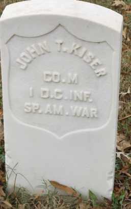 KISER  (VETERAN SAW), JOHN T. - Pulaski County, Arkansas   JOHN T. KISER  (VETERAN SAW) - Arkansas Gravestone Photos