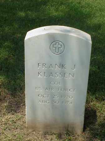 KLASSEN (VETERAN 2 WARS), FRANK J - Pulaski County, Arkansas | FRANK J KLASSEN (VETERAN 2 WARS) - Arkansas Gravestone Photos