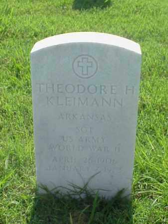 KLEIMANN (VETERAN WWII), THEODORE H - Pulaski County, Arkansas   THEODORE H KLEIMANN (VETERAN WWII) - Arkansas Gravestone Photos