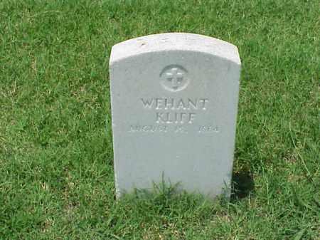 KLIFF (VETERAN UNION), WEHANT - Pulaski County, Arkansas | WEHANT KLIFF (VETERAN UNION) - Arkansas Gravestone Photos