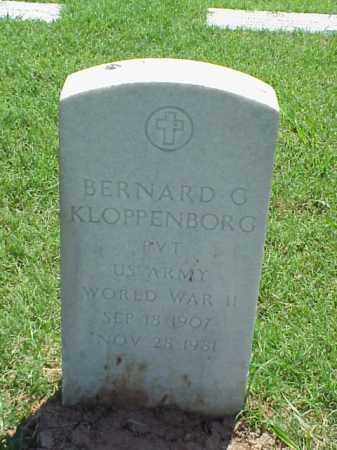 KLOPPENBORG (VETERAN WWII), BERNARD G - Pulaski County, Arkansas | BERNARD G KLOPPENBORG (VETERAN WWII) - Arkansas Gravestone Photos