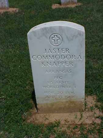 KNAPPER VETERAN WWI), JASTER COMMODORA - Pulaski County, Arkansas | JASTER COMMODORA KNAPPER VETERAN WWI) - Arkansas Gravestone Photos