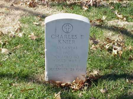 KNIER (VETERAN WWI), CHARLES E - Pulaski County, Arkansas   CHARLES E KNIER (VETERAN WWI) - Arkansas Gravestone Photos