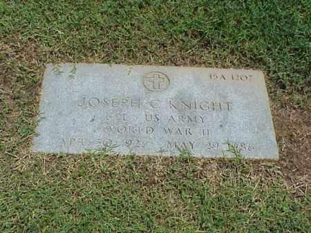KNIGHT (VETERAN WWII), JOSEPH C - Pulaski County, Arkansas | JOSEPH C KNIGHT (VETERAN WWII) - Arkansas Gravestone Photos