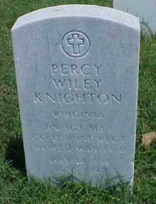 KNIGHTON (VETERAN 2 WARS), PERCY WILEY - Pulaski County, Arkansas | PERCY WILEY KNIGHTON (VETERAN 2 WARS) - Arkansas Gravestone Photos