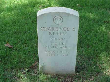 KNOFF (VETERAN WWI), CLARENCE B - Pulaski County, Arkansas | CLARENCE B KNOFF (VETERAN WWI) - Arkansas Gravestone Photos