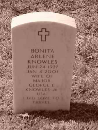 KNOWLES, BONITA ARLENE - Pulaski County, Arkansas   BONITA ARLENE KNOWLES - Arkansas Gravestone Photos