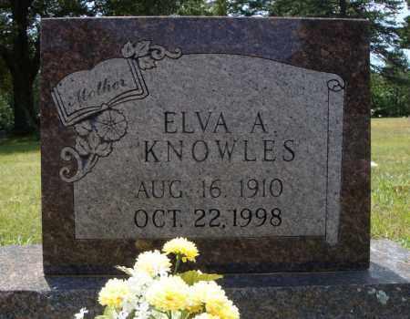 KNOWLES, ELVA A. - Pulaski County, Arkansas | ELVA A. KNOWLES - Arkansas Gravestone Photos