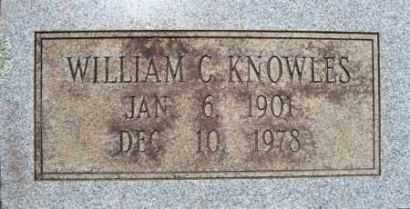 KNOWLES (ORIGINAL STONE 1), WILLIAM C. - Pulaski County, Arkansas   WILLIAM C. KNOWLES (ORIGINAL STONE 1) - Arkansas Gravestone Photos