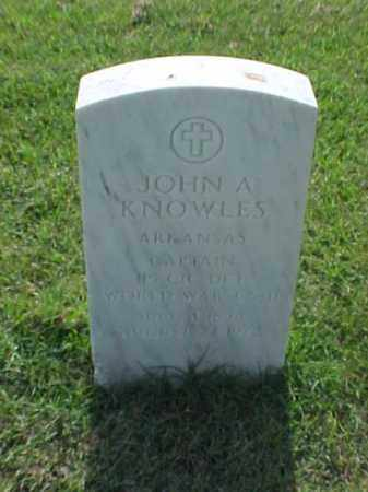 KNOWLES (VETERAN 2 WARS), JOHN A - Pulaski County, Arkansas | JOHN A KNOWLES (VETERAN 2 WARS) - Arkansas Gravestone Photos
