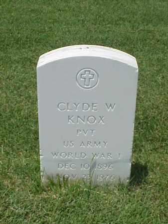 KNOX (VETERAN WWI), CLYDE W - Pulaski County, Arkansas | CLYDE W KNOX (VETERAN WWI) - Arkansas Gravestone Photos