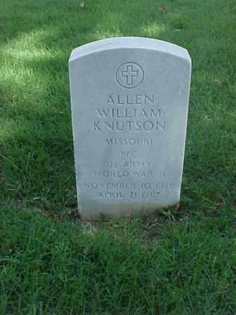 KNUTSON (VETERAN WWII), ALLEN WILLIAM - Pulaski County, Arkansas | ALLEN WILLIAM KNUTSON (VETERAN WWII) - Arkansas Gravestone Photos