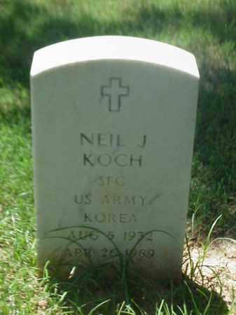 KOCH (VETERAN KOR), NEIL J - Pulaski County, Arkansas | NEIL J KOCH (VETERAN KOR) - Arkansas Gravestone Photos