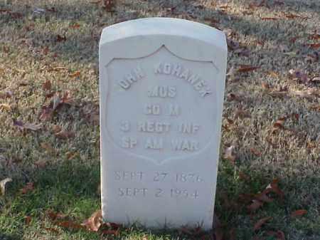 KOHANEK (VETERAN SAW), JOHN - Pulaski County, Arkansas   JOHN KOHANEK (VETERAN SAW) - Arkansas Gravestone Photos