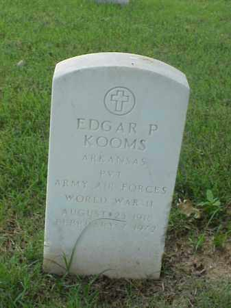 KOOMS (VETERAN WWII), EDGAR P - Pulaski County, Arkansas | EDGAR P KOOMS (VETERAN WWII) - Arkansas Gravestone Photos