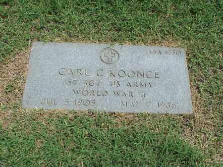KOONCE (VETERAN WWII), CARL C - Pulaski County, Arkansas | CARL C KOONCE (VETERAN WWII) - Arkansas Gravestone Photos