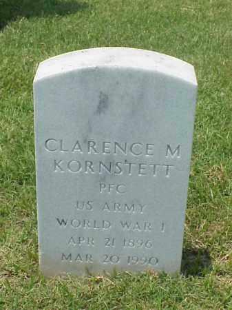 KORNSTETT (VETERAN WWI), CLARENCE M - Pulaski County, Arkansas   CLARENCE M KORNSTETT (VETERAN WWI) - Arkansas Gravestone Photos