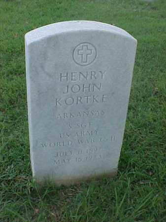 KORTKE (VETERAN 2 WARS), HENRY JOHN - Pulaski County, Arkansas | HENRY JOHN KORTKE (VETERAN 2 WARS) - Arkansas Gravestone Photos