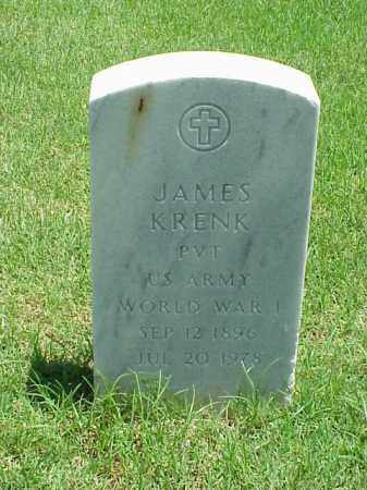 KRENK (VETERAN WWI), JAMES - Pulaski County, Arkansas | JAMES KRENK (VETERAN WWI) - Arkansas Gravestone Photos