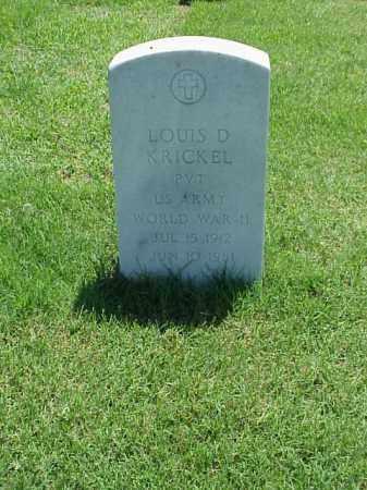 KRICKEL (VETERAN WWII), LOUIS D - Pulaski County, Arkansas | LOUIS D KRICKEL (VETERAN WWII) - Arkansas Gravestone Photos