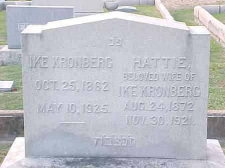 KRONBERG, IKE - Pulaski County, Arkansas   IKE KRONBERG - Arkansas Gravestone Photos