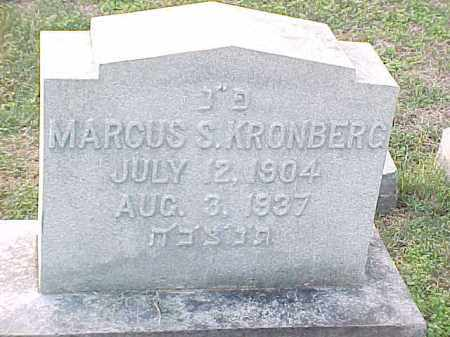 KRONBERG, MARCUS - Pulaski County, Arkansas   MARCUS KRONBERG - Arkansas Gravestone Photos