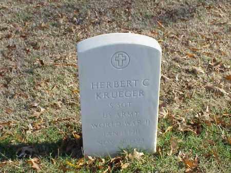 KRUEGER (VETERAN WWII), HERBERT C - Pulaski County, Arkansas   HERBERT C KRUEGER (VETERAN WWII) - Arkansas Gravestone Photos
