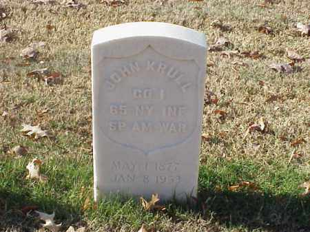 KRULL (VETERAN SAW), JOHN - Pulaski County, Arkansas   JOHN KRULL (VETERAN SAW) - Arkansas Gravestone Photos