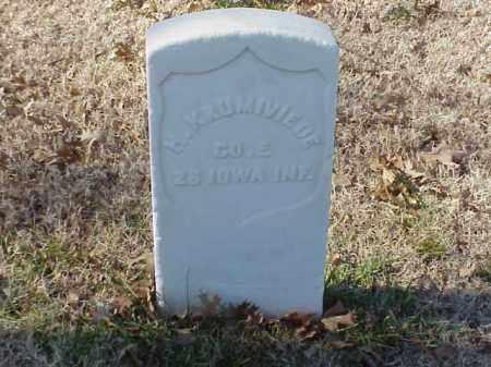 KRUMIVIEDE (VETERAN UNION), HEINRICH - Pulaski County, Arkansas   HEINRICH KRUMIVIEDE (VETERAN UNION) - Arkansas Gravestone Photos