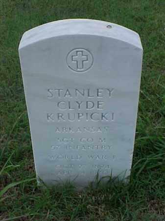 KRUPICKI (VETERAN WWI), STANLEY CLYDE - Pulaski County, Arkansas | STANLEY CLYDE KRUPICKI (VETERAN WWI) - Arkansas Gravestone Photos