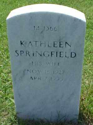 SPRINGFIELD KUESPERT, KATHLEEN - Pulaski County, Arkansas | KATHLEEN SPRINGFIELD KUESPERT - Arkansas Gravestone Photos