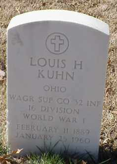 KUHN  (VETERAN WWI), LOUIS H - Pulaski County, Arkansas   LOUIS H KUHN  (VETERAN WWI) - Arkansas Gravestone Photos
