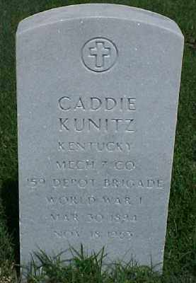 KUNITZ (VETERAN WWI), CADDIE - Pulaski County, Arkansas | CADDIE KUNITZ (VETERAN WWI) - Arkansas Gravestone Photos