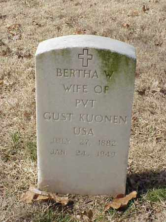 KUONEN, BERTHA W - Pulaski County, Arkansas   BERTHA W KUONEN - Arkansas Gravestone Photos