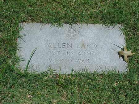 LADD (VETERAN WWI), ALLEN - Pulaski County, Arkansas | ALLEN LADD (VETERAN WWI) - Arkansas Gravestone Photos
