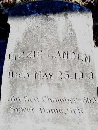 LANDEN, LIZZIE - Pulaski County, Arkansas   LIZZIE LANDEN - Arkansas Gravestone Photos