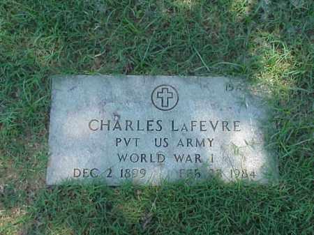 LAFEVRE (VETERAN WWI), CHARLES - Pulaski County, Arkansas | CHARLES LAFEVRE (VETERAN WWI) - Arkansas Gravestone Photos