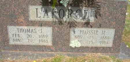 LAFORCE, FLOSSIE M. - Pulaski County, Arkansas | FLOSSIE M. LAFORCE - Arkansas Gravestone Photos