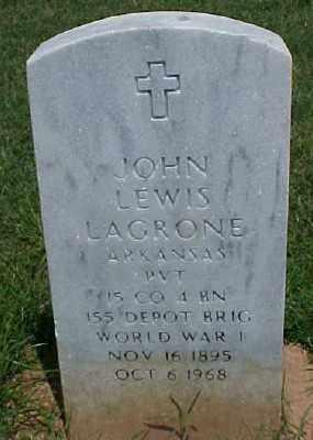 LAGRONE (VETERAN WWI), JOHN LEWIS - Pulaski County, Arkansas | JOHN LEWIS LAGRONE (VETERAN WWI) - Arkansas Gravestone Photos